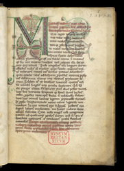 Decorated Initial, In Paschasius Radbertus's Commentary On Lamentations f.1r